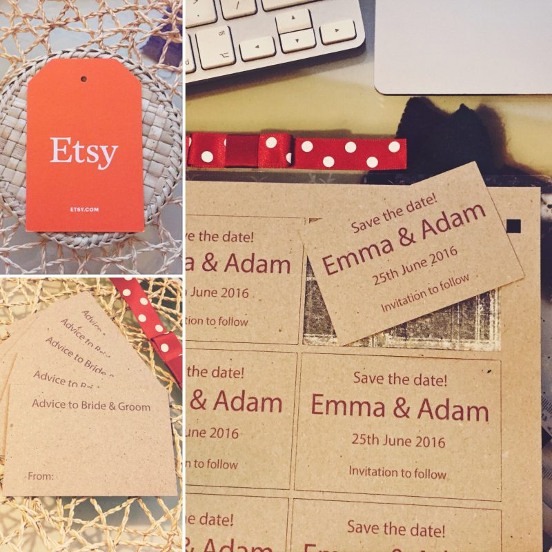 Save the Date Kraft Cards