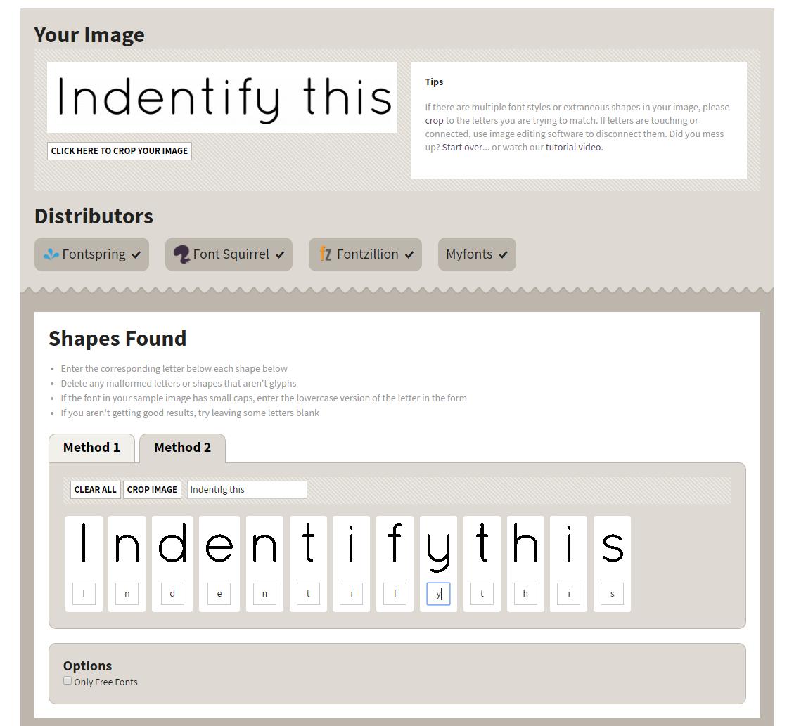 Font Identifier Font Tool