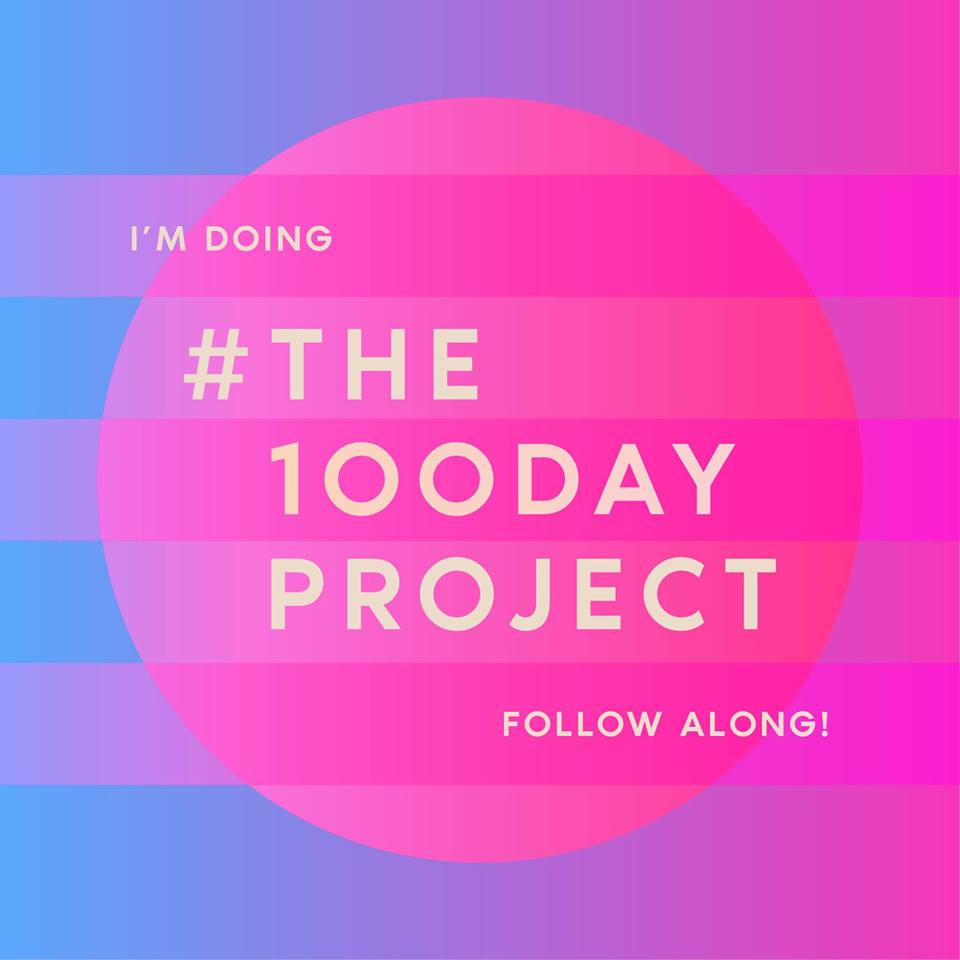 #the100dayproject promotional banner
